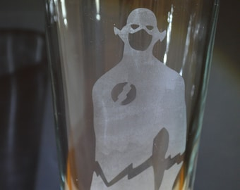 Superhero Flash Homemade Hand Etched Tumbler A Must Have!!