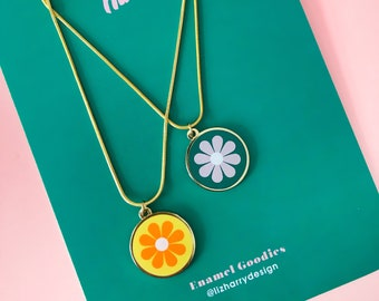 Retro Style Summer Flower Pendant Necklace - available individually or as a set