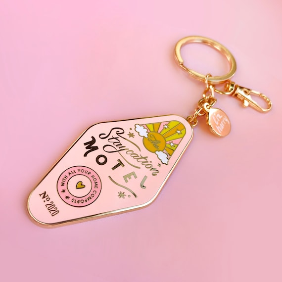 Pretty In Pink KeychainPurse Charm
