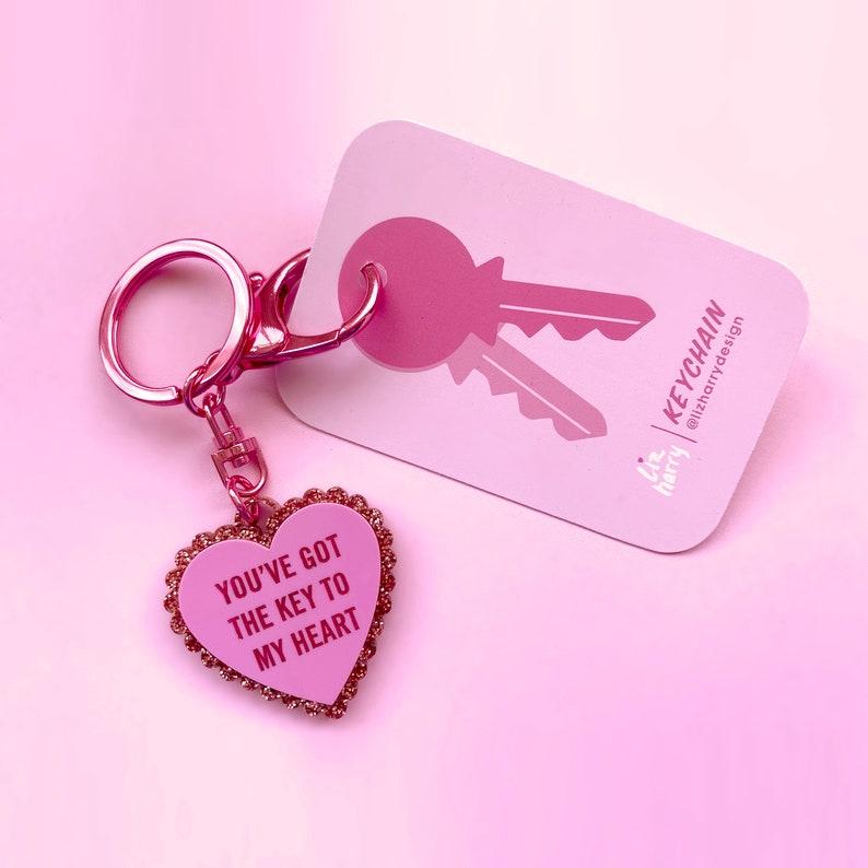 Moving Gift SAMPLE Key To My Heart Keychain Love Heart Keychain
