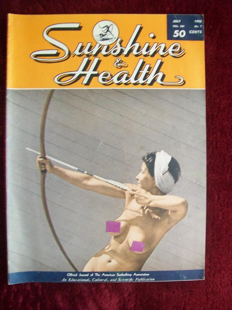SUNSHINE & HEALTH Vol  21 No  7 July 1952 Vintage Nudist Magazine