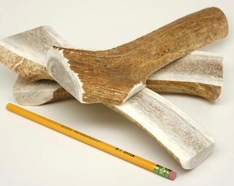 Jumbo SPLIT Elk Antler Dog Chew, Elk Antler Bone for Large Dogs (HALF POUND or more!) All Natural Dog Chew Bone