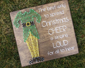 Best way to Spread Christmas Cheer Buddy the Elf String Art *Made-to-Order*