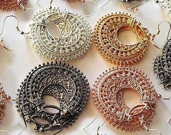 Earrings, dangle earrings, boho earrings, long earrings, hoop earrings, drop earrings, Gypsy earrings, Bohemian earrings, Hippie, boho, gift