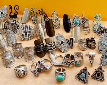 Boho Silver Rings, Long Rings, Ethnic Rings, Tribal Rings, Gypsy Ring, Bohemian ring, Knuckle ring, Silver Rings, Hippie Ring, Boho Jewelry