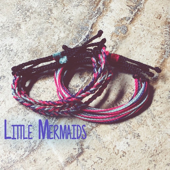 Little Mermaid String Bracelets Braided Bracelets | Etsy