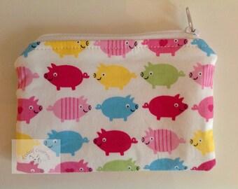 "5"" Purse - Multicoloured Piggies"