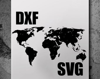 World map dxf etsy world map svg svg files silhouette cameo svg cutting svg file silhouette files cutting files dxf files cut files svg cutting files gumiabroncs Choice Image