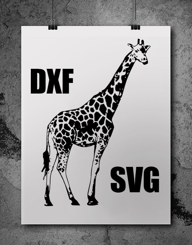 Giraffe Svg Svg Files Silhouette Cameo Svg Cutting Svg Etsy
