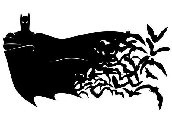SVG Batman Instant Download Silhouette File