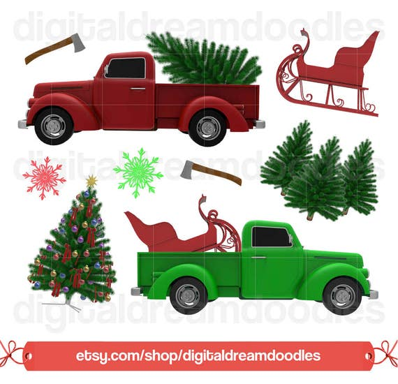 Christmas Tree Farm Southern California: Christmas Tree Truck Clipart Holiday Christmas Truck Clip