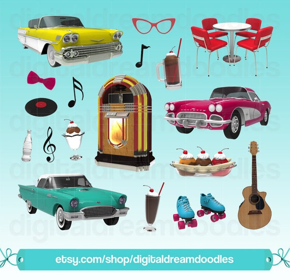 diner clipart 50s diner clip art retro clipart jukebox etsy rh etsy com dinner clipart images diner clipart free