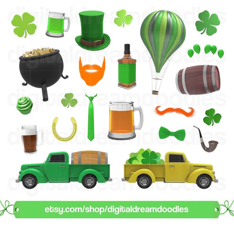 St Patricks Day Clip Art St Patrick/'s Day Clipart Saint Patty Day Digital Download Irish Clipart Leaf Clover Truck Art Shamrock Graphic