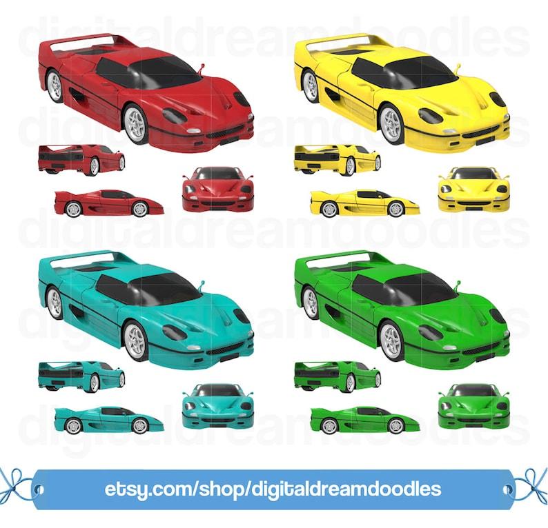 Ferrari F50 Car Clip Art Car Clipart Ferrari Auto Scrapbook PNG Ferrari Car Image F50 Vehicle Clipart Digital Download F50 Car Graphic