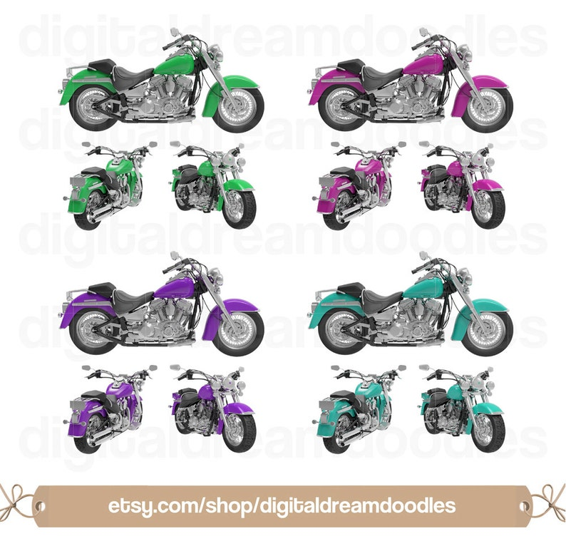 Road Hog Clipart Motorcycles Image Classic Bikes Srapbook Motorbike Graphic Biker Clipart Helmet Digital Download Motorcycle Clipart