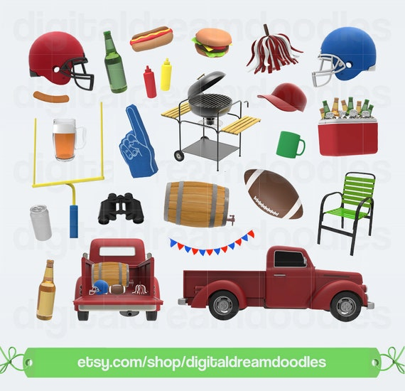 football clipart tailgate clip art tail gate party graphic etsy rh etsy com tailgating clipart tailgating clipart