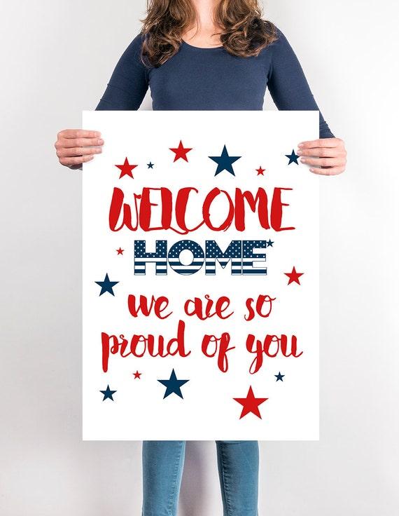 welcome home sign printable