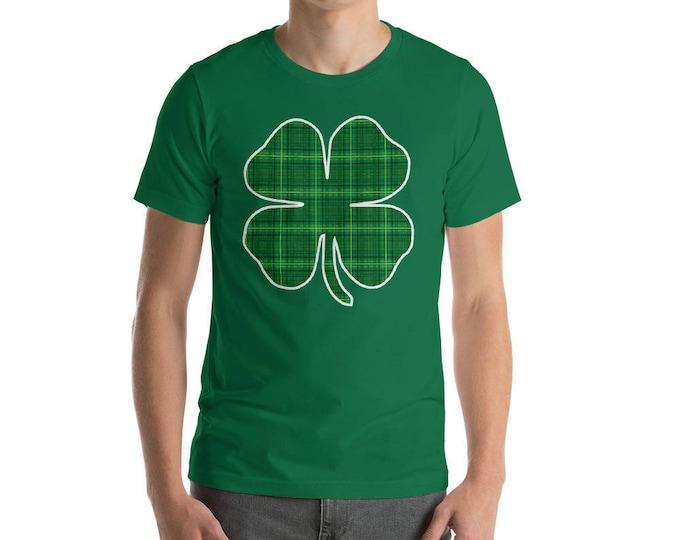 Shamrock 4 leaf clover Texture shirt St Patrick's Day t-shirt
