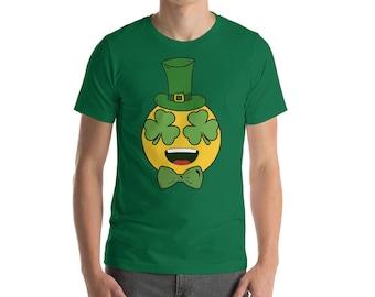 St Patrick's Irish Emoji Shirt - St Patrick's Day shamrock Shirt