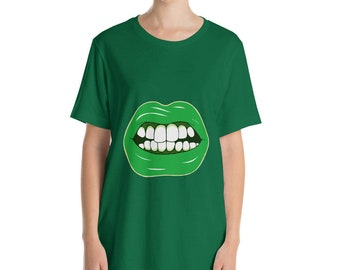 Green Lips Shirt Green Beer - St Patrick's day