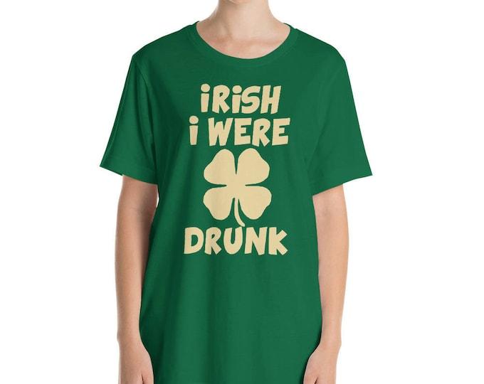 Irish I were drunk t-shirt St. Patricks day shirt