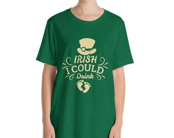 St. Patrick's Day Pregnancy Shirt. Maternity  Shirt - Irish Shirt  fun baby feet shamrock T Shirt - Funny Irish Shirt - Lucky Shirt