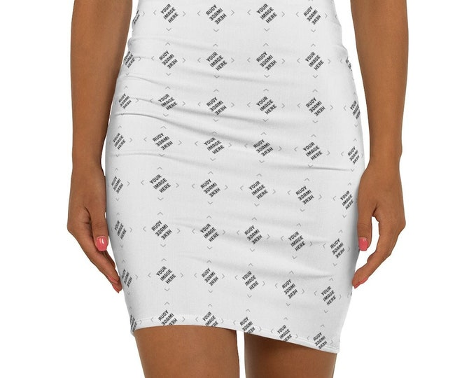 Personalized pattern Skirt Custom Women's Mini Skirt - Personalized gifts for her