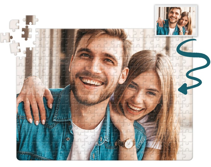 Custom Photo Puzzle Jigsaw puzzles for adults, Personalized jigsaw puzzle with your picture 252 piece Puzzle customizable