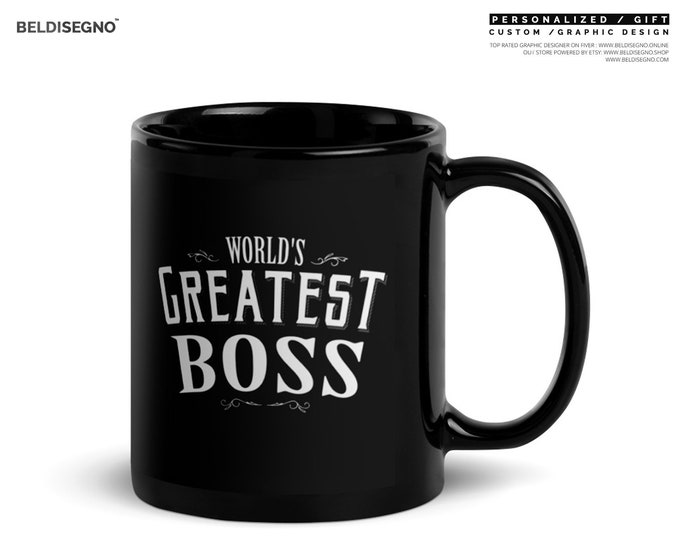 Boss mug for men, World's Greatest Boss Coffee Mug boss appreciation, boss day, boss gifts, bosses day gifts, boss's day, boss mug for men