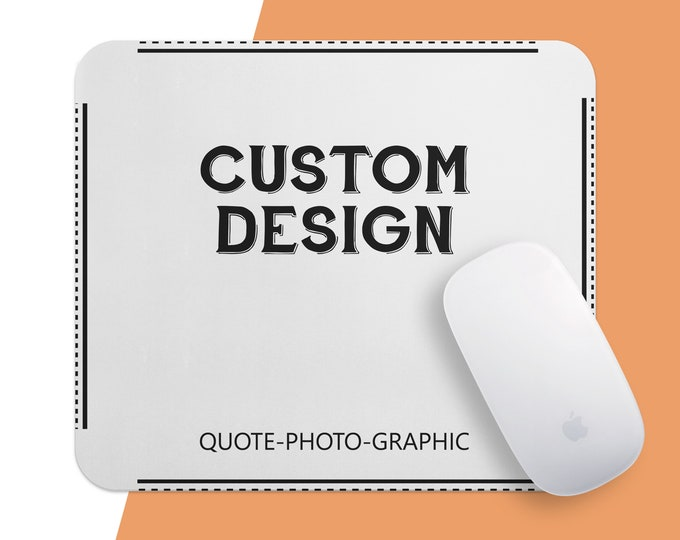 Custom Mousepad, Personalized Mouse Pad, Marble Mouse Pad, Floral Mouse Pad, Mousepad with Cat Dog photo, with saying, picture