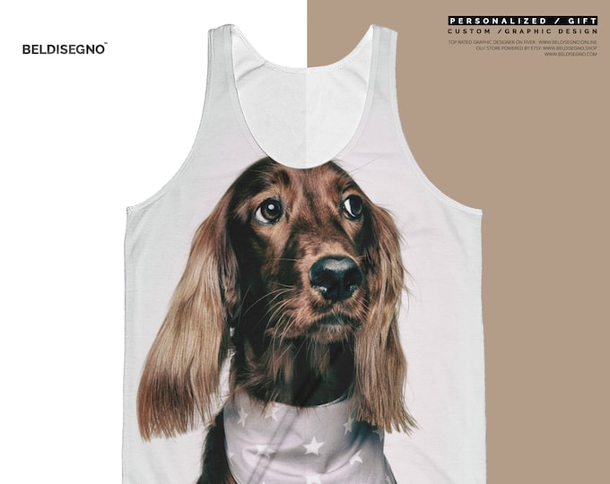 Personalized Tank Top -  Unisex Classic Fit Tank Top All-Over - Custom tank top with picture - tank top personalized Printing Pattern
