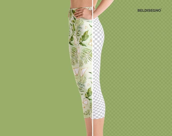 Leggings for women - Personalized Yoga Capri Leggings - Custom Yoga Leggings