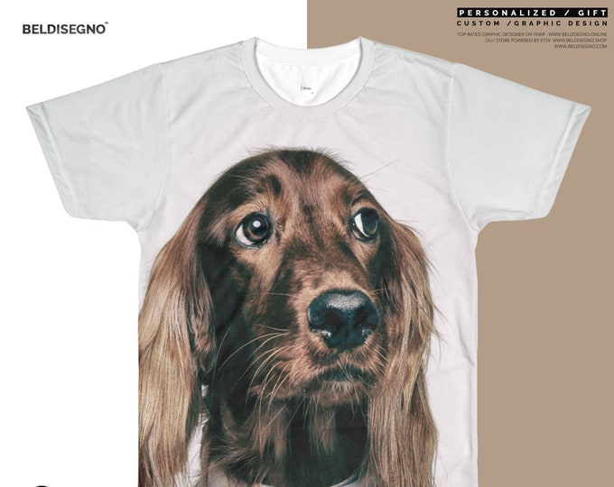 Custom Picture shirt - Picture on Shirt - Personalized All-Over Printed T-Shirt - Men's Custom Sublimation T-Shirt - custom dog shirt