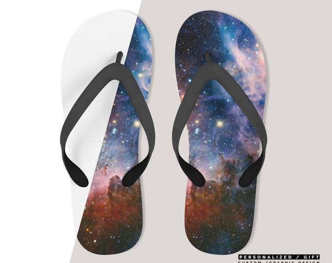 Personalized Unisex Flip Flops  Customize With your photo Logo Graphic custom text quote - Custom Beach Flip Flops