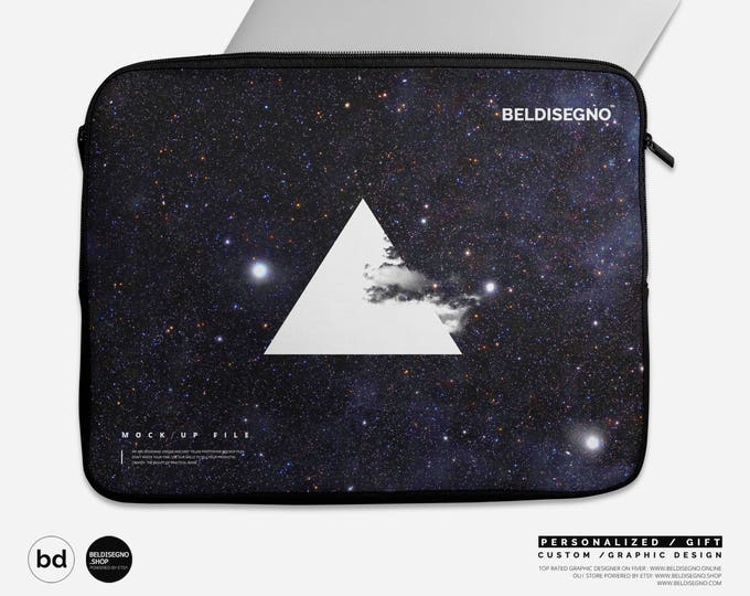 "Personalized Laptop Sleeve - Custom Laptop Case zipper 12"" 13"" 15"" with logo / photo / name / pattern"