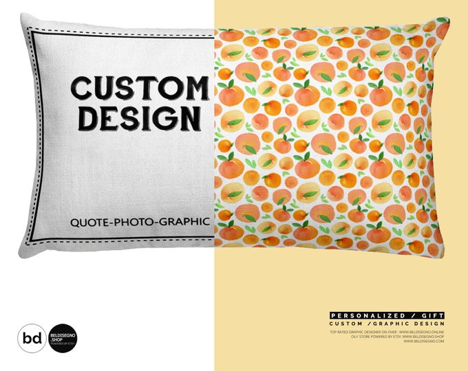 Personalized Rectangular Pillow - Custom Pillow with saying / Quote / Photo / Pet & cat pattern / Custom Graphic