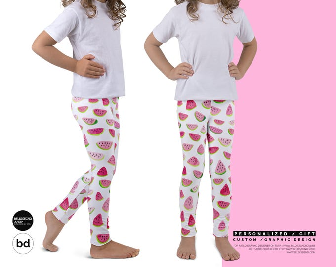 Personalized Leggings for Girls - Custom Leggings Gift for Kids - Kid's leggings with name | name leggings