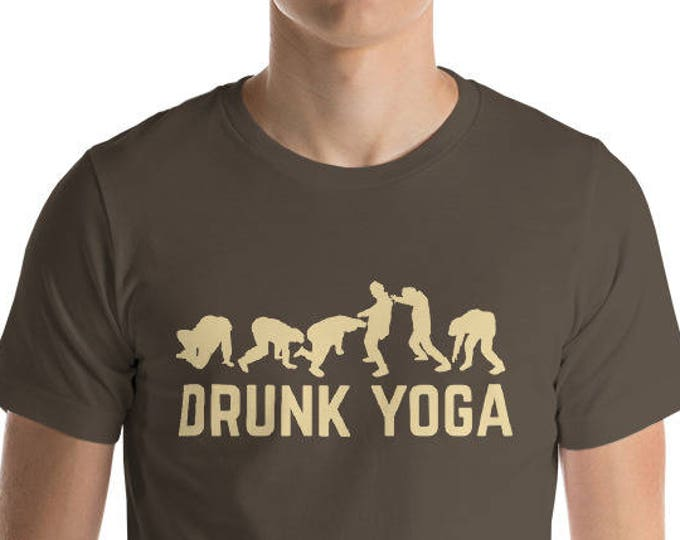 Drunk Yoga Shirt - funny drinking shirt for st Patrick Cinco De Mayo Halloween