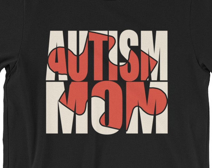 Autism Mom | Proud mom if autistic child | Puzzle Short-Sleeve Unisex T-Shirt | | Autism Awareness | Autism Shirt