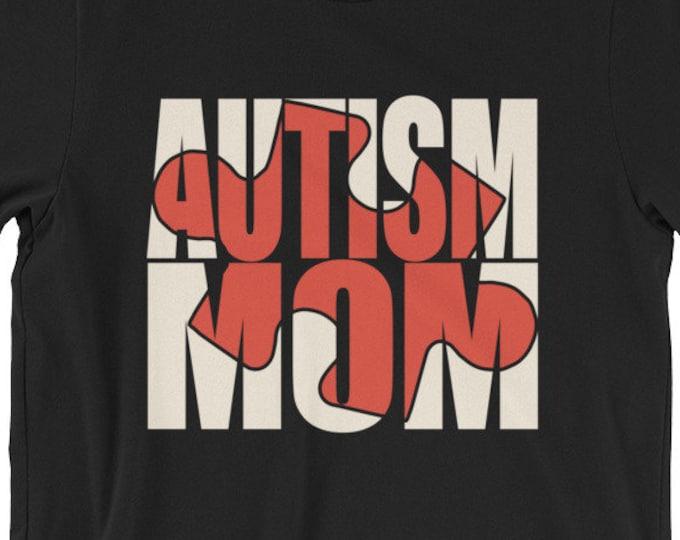 Autism Mom | Proud mom if autistic child | Puzzle Short-Sleeve Unisex T-Shirt | | Autism Awareness | Autism Shirt  | BelDisegno