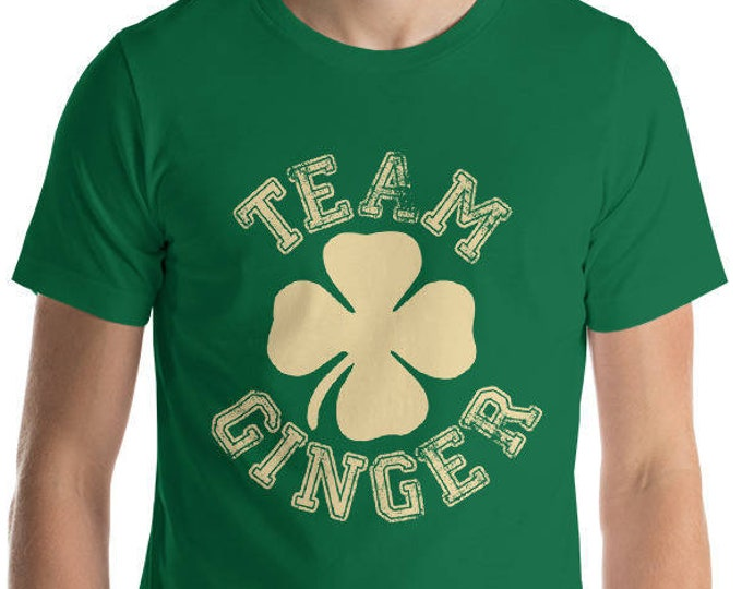 St. Patrick's Day Shirt, Team Ginger Funny Irish Green St. Patrick's Day Pub Crawl Party T Shirt Personalize to any team name