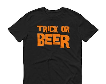 Men's Trick Or Beer Shirt Halloween shirt Beer Halloween Shirt for men Halloween Party Drinking shirt  Adult Halloween shirt men Costumes