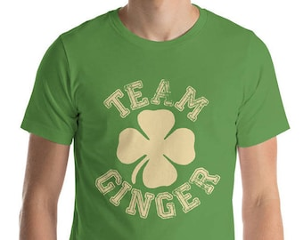 St. Patrick's Day Shirt, Team Ginger Funny Irish Green St. Patrick's Day Pub Crawl Party T Shirt Personalize to any team name | BelDisegno