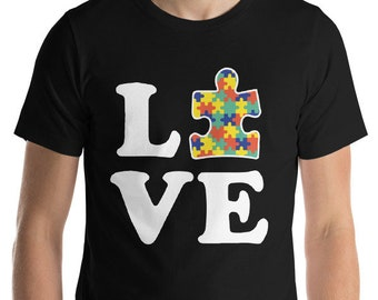 Autism Awareness | Autism Shirt | Autism mom Dad | Love Autism Short-Sleeve Unisex T-Shirt | | Autism Awareness | Autism Shirt