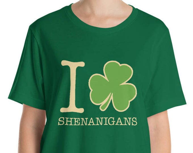 St. Patrick's Day Shirt. I Love Shenanigans Shirt.