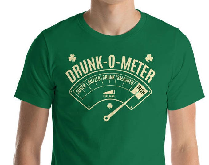 Drunk-o-Meter Drunk Irish Shirt - St Patrick's day