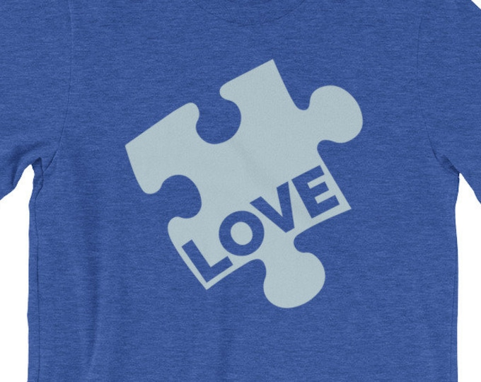 Autism Puzzle Piece Shirt | Autism Love Short-Sleeve Unisex T-Shirt | Autism Awareness | Autism Shirt