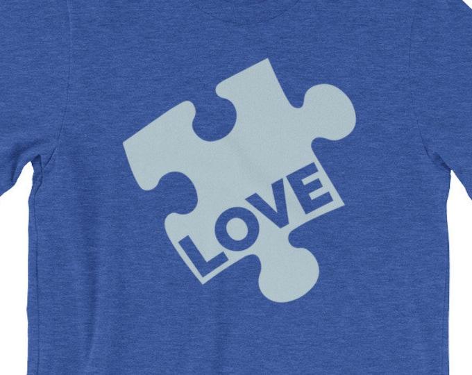 Autism Puzzle Piece Shirt | Autism Love Short-Sleeve Unisex T-Shirt | Autism Awareness | Autism Shirt | BelDisegno