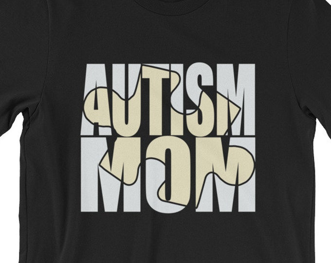 Autism Mom | Proud Autism Mom | autism puzzle piece | Short-Sleeve Unisex T-Shirt | Autism Awareness | Autism Shirt
