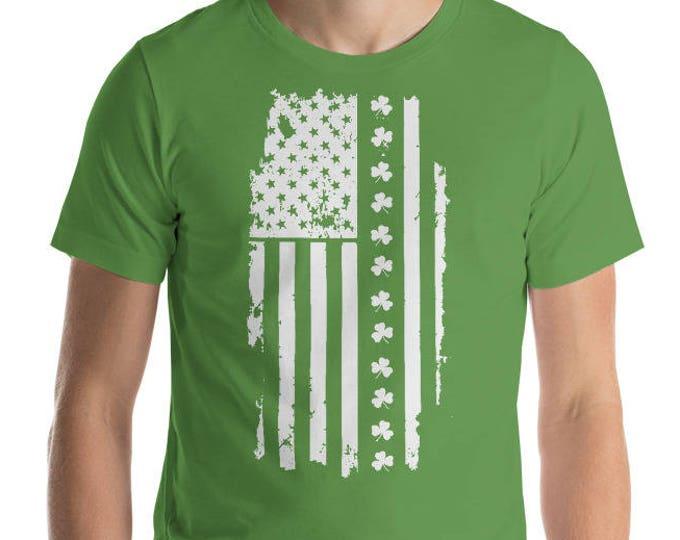St Patrick's day Irish American flag USA America Map Saint Patricks shamrock Lucky Clover Leaf | BelDisegno